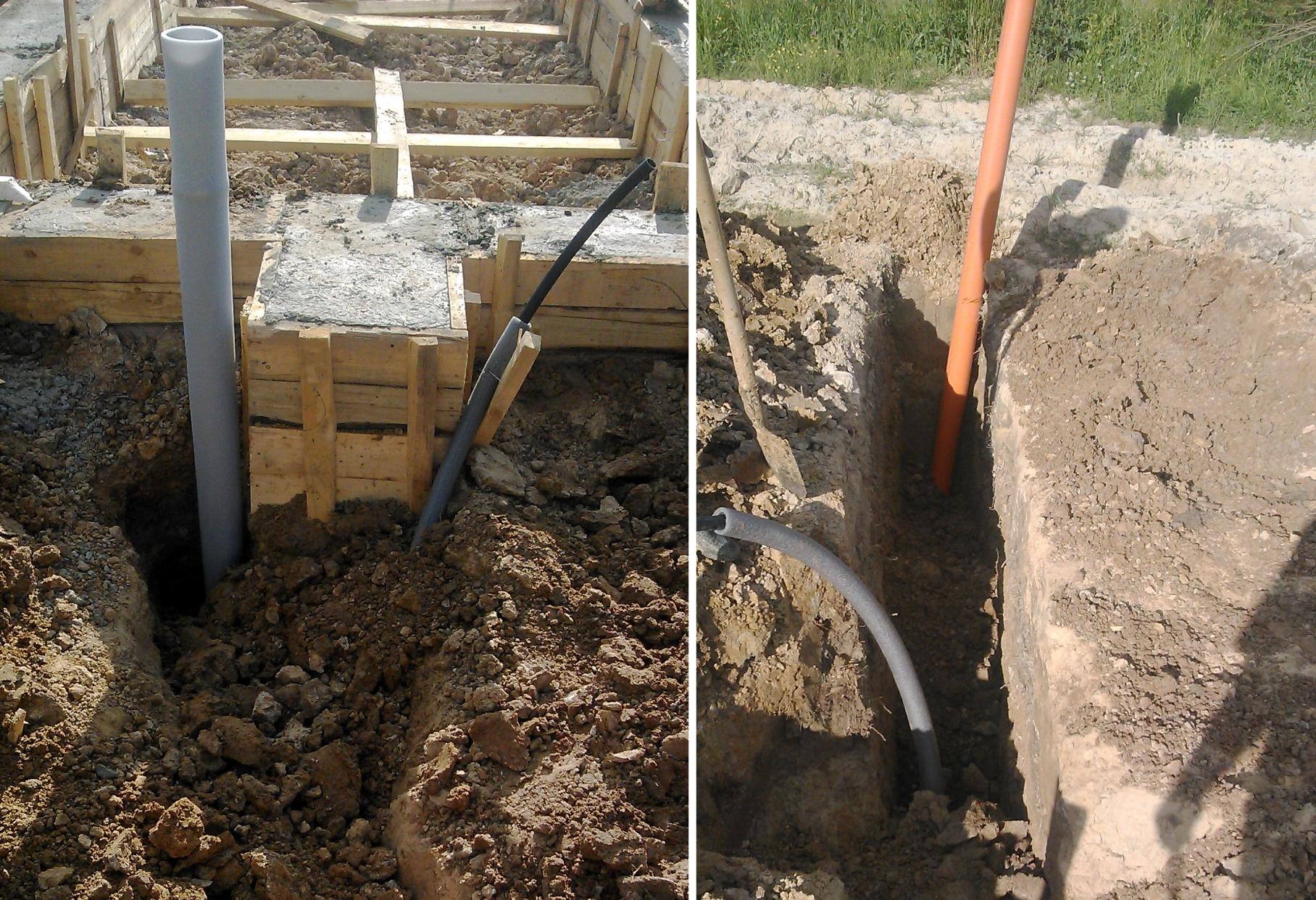 Фундамент и коммуникации - канализация и водопровод 24