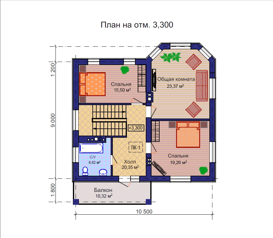 План дома из газобетонных блоков
