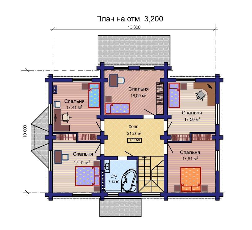 План комбинированного дома