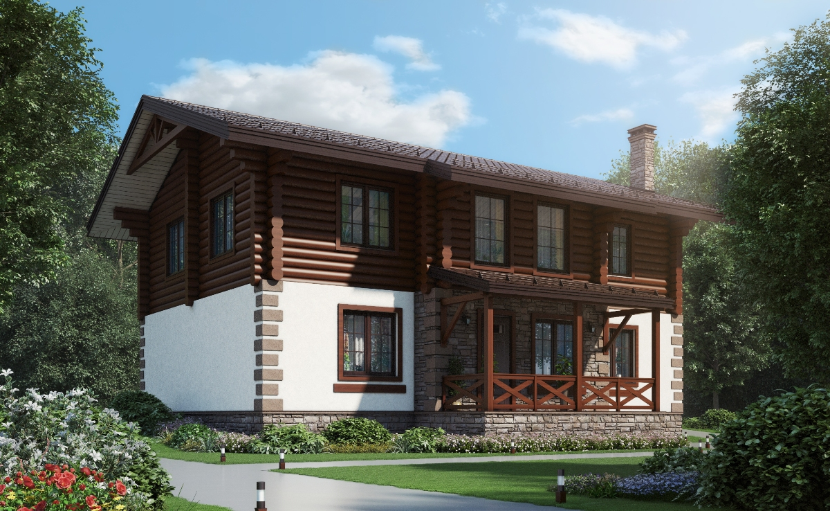 Проект комбинированного дома