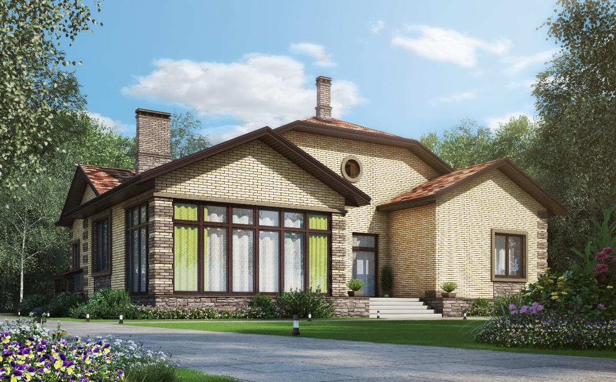 Проект дома из газобетонных блоков