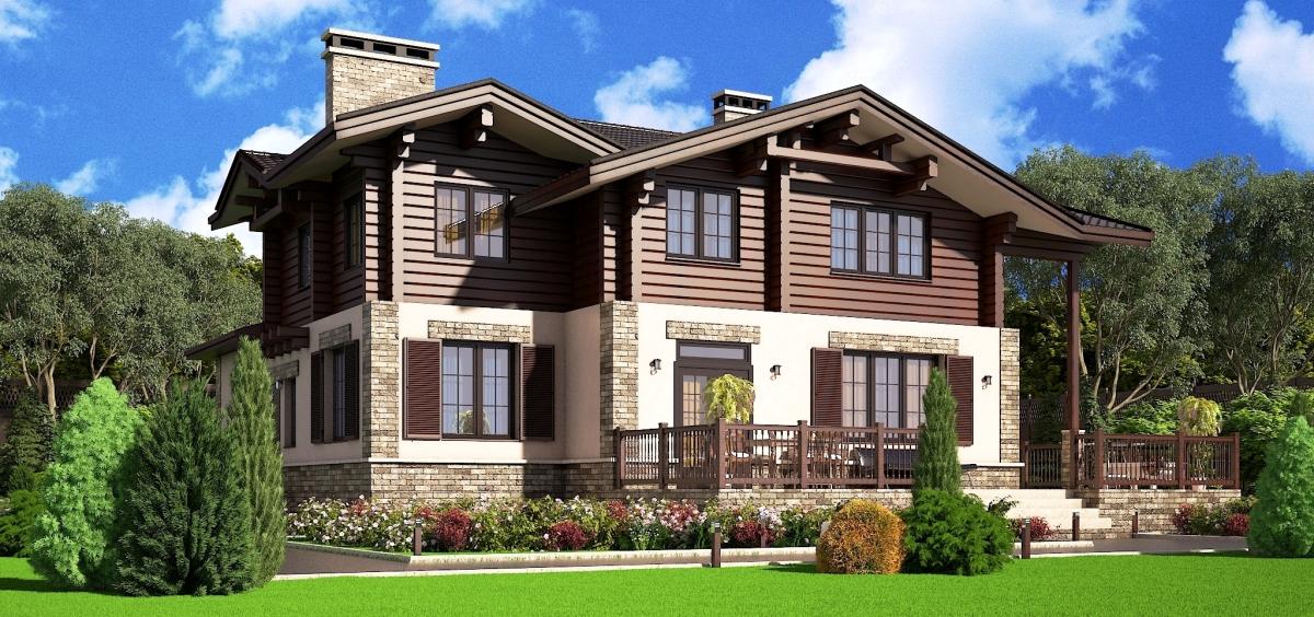 Комбинированный дом из газобетона