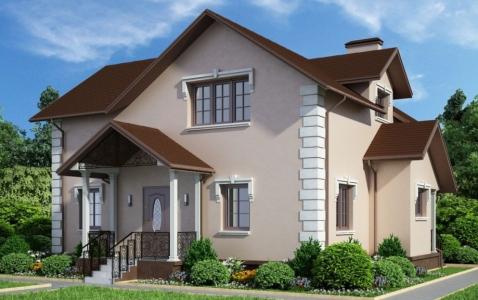 Проект дома из газобетона с летней террасой