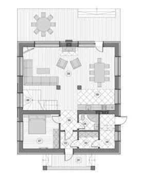 План дома из газобетона 111