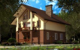 Проект дома из газобетона 111